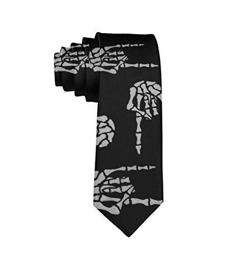 YoungbG Corbatas de Hombre Corbata clásica para Hombre Flaco Novedad Heavy Metal Skull Rock Mano Corbatas para el Cuello Ideal para Negocios Boda Novio Padrino de Boda Caballero Regalos de Fiesta