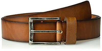 Florsheim Men's Albert Dress Casual Leather Belt, cognac, 40
