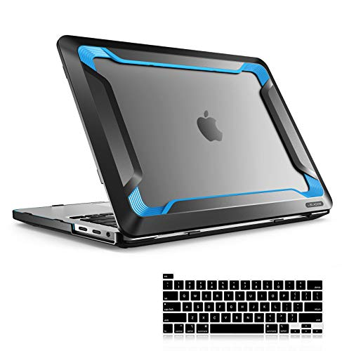 i-Blason Rugged Case for MacBook Pro 16 inch (2019 Release) A2141, Heavy Duty Shockproof Bumper Cover Including Keyboard Cover for New MacBook Pro 16' with Touch Bar and Touch ID (Blue)