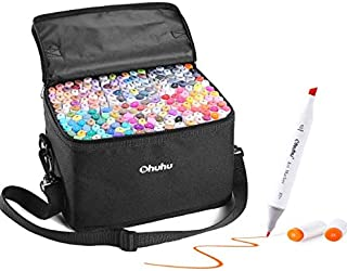 200 Colors Alcohol Art Markers, Ohuhu Double Tipped Marker Set for Kids Adults Coloring, Alcohol-based Sketch Markers for Drawing Sketching, Bonus 1 Colorless Marker Blender, Great Christmas Gift Idea