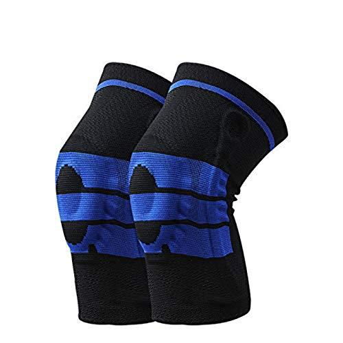 HK5G 2er Pack kniebandage, Knieschoner männer Damen, Knieschützer stabilisiert und unterstützt Knie, geeignet Basketball, Fußball, Golf, Tennis, Wandern, Volleyball