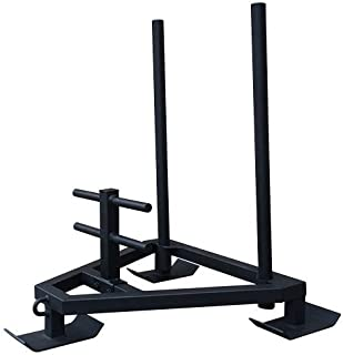 OneFitWonder Commercial Grade Push/Pull Sled/Improve Speed & Explosiveness/Removable Handles for Storage / 800lb Weight Capacity