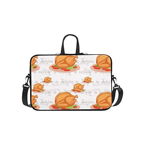 Women Laptop Handbags Thanksgiving Turkey Thanksgiving Lightweight Waterproof Business Casual Or School Best Laptop Bag for Business Travelling