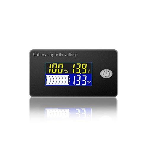 Cptdcl, misuratore di capacità per batteria 4 in 1 al piombo acido, con voltmetro, termometro 0-179 °F e display con indicatore di tensione
