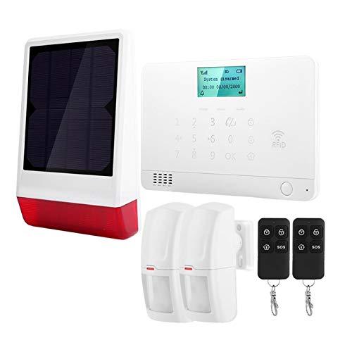 KUIDAMOS El Kit de Alarma de Seguridad de Alarma antirrobo de Sirena de 120 Db para Alarma antirrobo de casa se(European Standard (110v-240v))