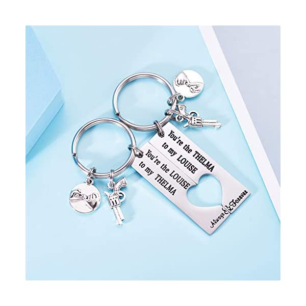 LParkin You are The Thelma to My Louise Best Friends Keychains Moving Away Gift Friendship Jewelry Thelma and Louise Keychain Set