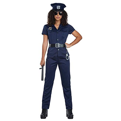 California Costumes Women's Police Woman - Adult Costume Adult Costume, -Navy, Medium