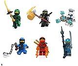 LEGO Ninjago Masters of Spinjitzu Combo Foil Pack - Set of 6 Minifigures (Lloyd, Jay, Cole, Zane, Kai, and Nya)