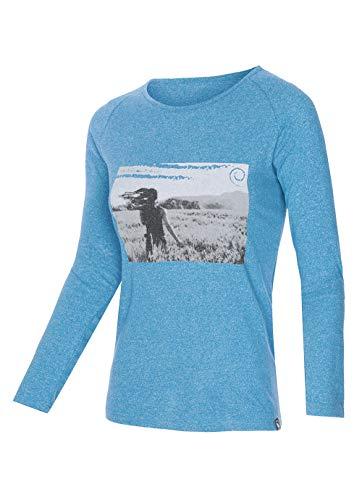 Trangoworld Jara T-Shirt pour Femme Bleu Taille XS