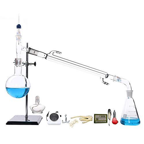 Unidad De Destilación De Laboratorio Resistencia a Altas Temperaturas Cristalería Ciencia Industrial Destilador Control De Temperatura Horno Eléctrico Bomba Peristáltica En Miniatura 12 V Mezclador Ma