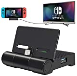 Switch Dock for Nintendo Switch, ALIENGT Switch TV Docking Station Replacement for Nintendo Switch Dock, Portable Switch Charging Dock Set with HDMI, USB 3.0 Port and Air Outlet (Upgraded Version)
