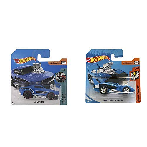Hot Wheels Dodge Charger Daytona Muscle Mania & 68 Mustang Tooned