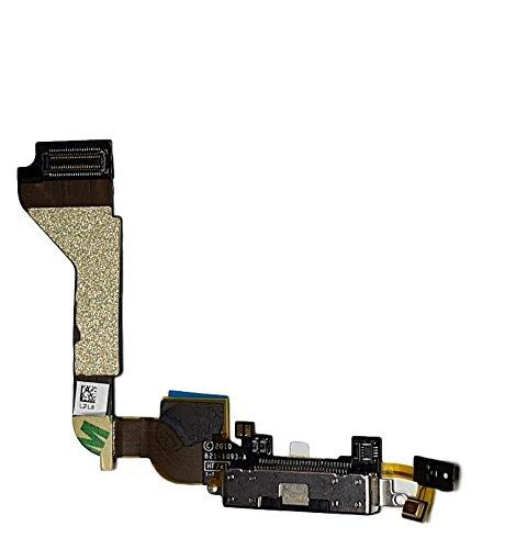 Smartex Conector de Carga de Repuesto Compatible con iPhone 4 4G Negro...