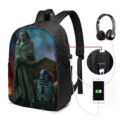 FGHJY Star war R2 D2 Laptop Backpack with USB Charging Port/Stylish Casual Waterproof Backpacks Fits Most 17/15.6 Inch Laptops and Tablets/for Work Travel School