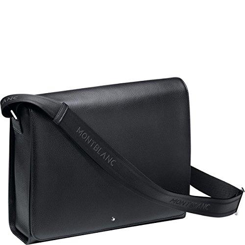 Montblanc Soft Grain Messenger Bag bolso de hombro, 33 cm, Negro