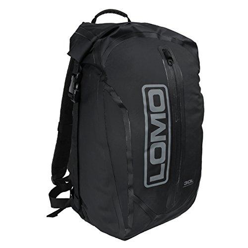 Lomo Dry Bag Daysack 30L - Black Waterproof Rucksack Roll Top Drybag