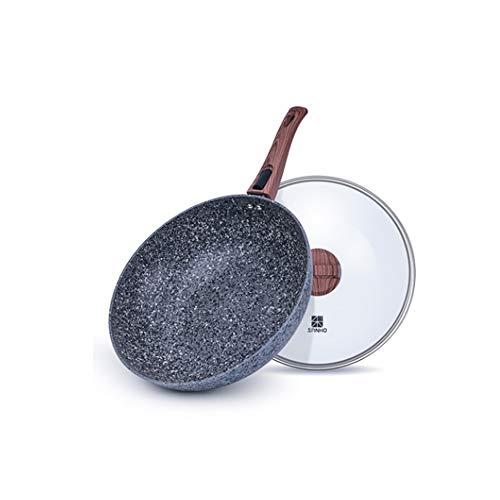 XXDTG Maifan Piedra Antiadherente Wok Hogar Olla De Cocina Multifuncional Cocina De Inducción Estufa De Gas Adecuada Para Olla De Cocina