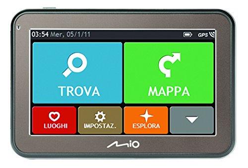 Mio Spirit 5400 Western Europe LITE - Navigatore GPS per Auto con Mappe Europa Occidentale (15 Paesi), Aggiornamento Mappe a Vita, Nero