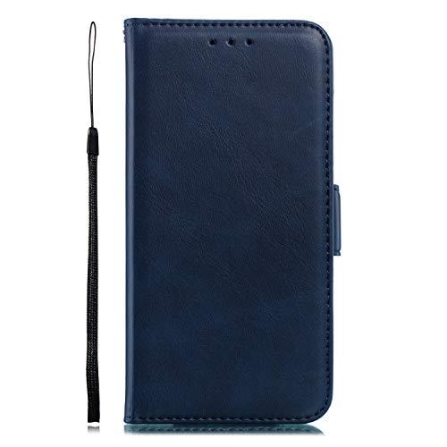 Miagon für Xiaomi 9 Lederhülle,Luxuriöse Stilvoll Lanyard Premium Pu Leder Kartenfach Magnetverschluss Flip Brieftasche Etui Schutzhülle mit Standfunktion