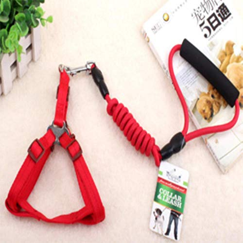 KIU Supplies trektouw borstband hondenriem hond halsband hondenketting Two-Piece, rood, L