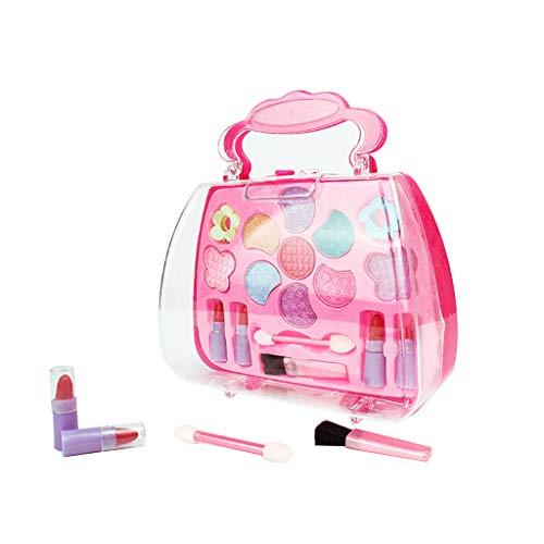 Kunststoff Make-up-Zubehör Set Sicher Ungiftig Kinder Mädchen Prinzessin Make-up Set Lidschatten Lippenstift Pinsel Kit
