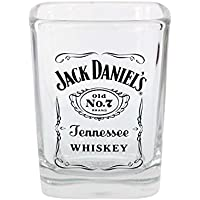 Vaso de chupito con el logotipo de Jack Daniels