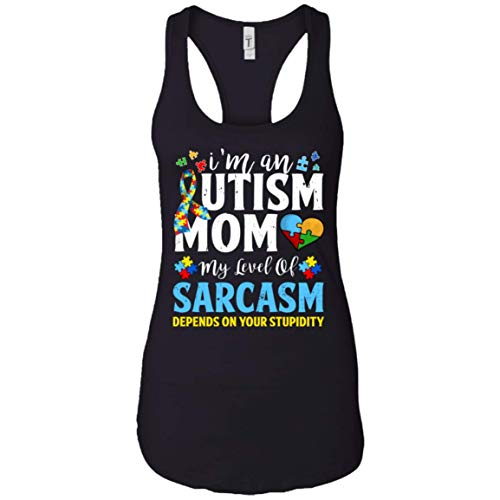 Autism Aweraness Puzzle Piece Tank Top I'm an Autism Mom My...