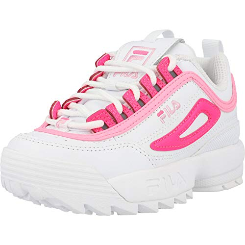 Fila Disruptor II Youth Weiß/Baumwolle Candy/Rosa Sneakers-UK 13 Kinder/EU 31.5