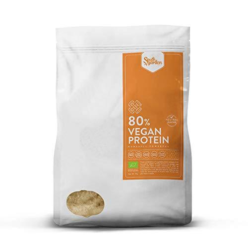 South Garden - Protéines vegan BIO concentrées à 80%, goût neutre, 1kg
