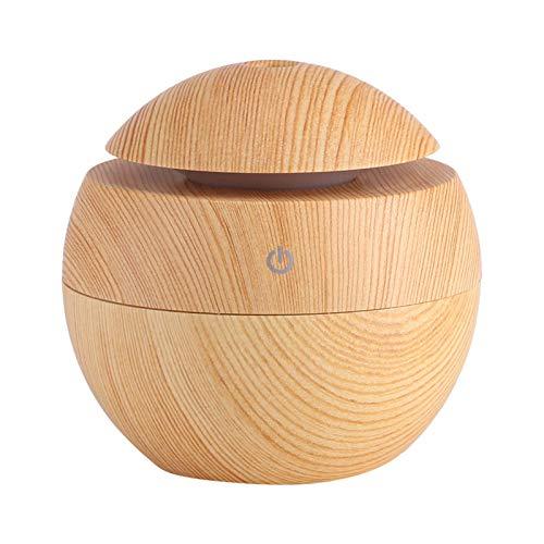 Humidificador LED táctil, eliminadores de olores silencioso y cómodo, fuente de alimentación USB purificador de aire para la familia para el hogar para el cuidado de la piel (camel)
