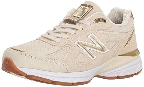 New Balance Women's 990v4 Sneaker, Angora/Angora, 3 UK