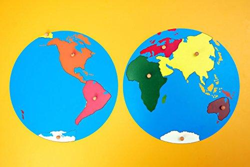 Puzzle Continents Montessori