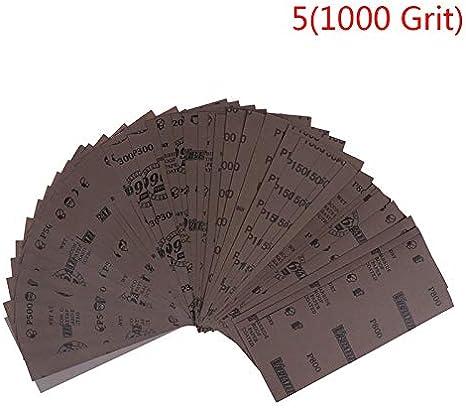 10 unids//set pulido en seco h/úmedo lijado papel de lija abrasivo hojas de papel de grano 220-7000 230 93mm A1