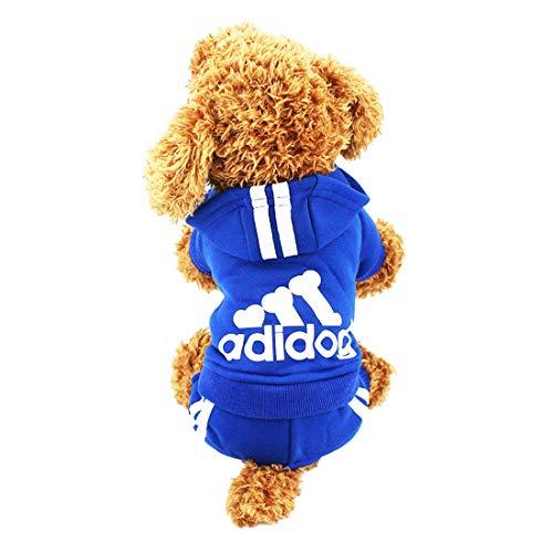 LifeWheel Hundemantel Warm Wintermantel Haustier Mantel Hund Kleider, Blau XL