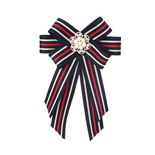 DONGMAISM Broche Corbatas de Arco Corbata de Arco Broche Tela Pines y broches Corsage Blusa de Mariposa Accesorios Pin Solapa para Mujeres (Metal Color : 3)