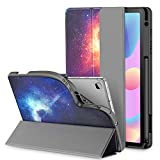 INFILAND Galaxy Tab S6 Lite Case with S Pen Holder, Slim Tri-Fold Case Cover Compatible with Samsung Galaxy Tab S6 Lite 10.4 Inch Model SM-P610/P615 2020 Release [Support Auto Wake/Sleep], Galaxy