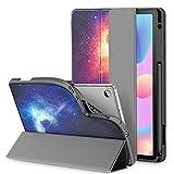 INFILAND Hülle für Galaxy Tab S6 Lite mit S Pen Halter, Superleicht TPU Smart Schutzhülle mit Auto Schlaf/Wach Funktion für Samsung Galaxy Tab S6 Lite 10.4 P615/P610,Galaxis