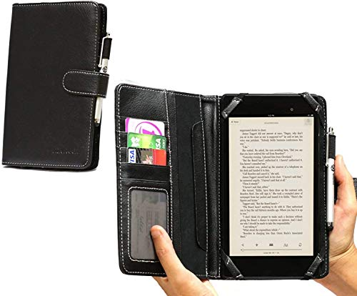 Navitech Black Bycast Leather Flip Open 7 Inch Book Style Carry Case/Cover for the Acer Iconia One 7 B1-780