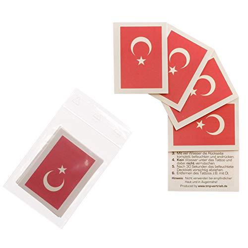 TMP 10 x Turquie Fan Tatouages - Drapeau de la Turquie - Tatouages temporaires (10)