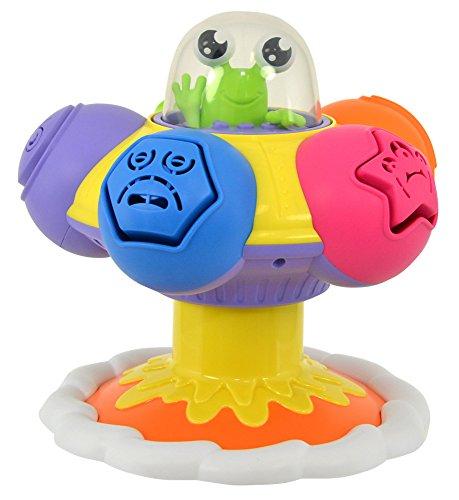 """TOMY Baby Spielzeug """"Dreh-, Sortier- & Plopp UFO"""" mehrfarbig - hochwertiges Motorikspielzeug für Babys ab 10 Monate"""