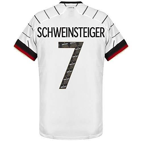 adidas Deutschland Home Schweinsteiger 7 Trikot 2020-2021 (Danke Basti Beflockung) - XL