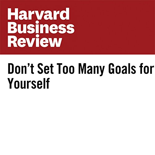 Don't Set Too Many Goals for Yourself audiobook cover art