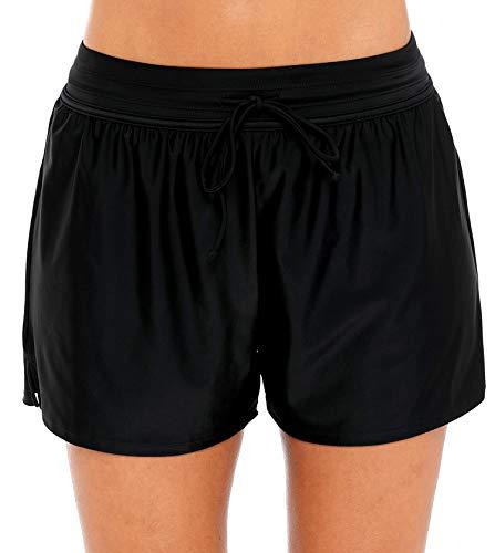 Charmo Bikinishorts für Damen Elastisch Hotpants Frauen Badehosen Schwimmen Strandshorts M