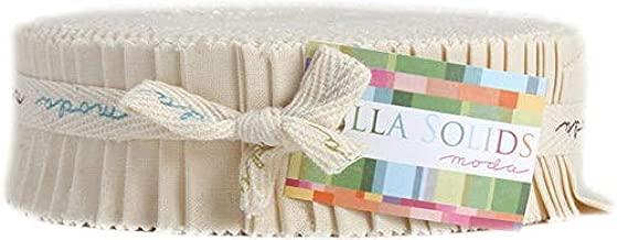 Bella Solids Natural Honey Bun 40 1.5-inch Strips Moda Fabrics 9900HB 12