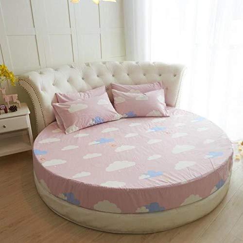 HPPSLT Protector de colchón, con Aloe Vera, (Todas Las Medidas) Faldón de Cama Redondo de algodón Redondo -9_1,8m