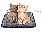UBEI Pet Electric Heating Pad for Dogs and Cats Waterproof Adjustable Anti-bite Steel Cord Dog Warm Bed Mat Heated Suitable for Pets Deds Pets Blankets and Kennel 17.7'x17.7' (Flower Color) …