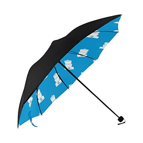 Steamer Home Kitchenware Food Creative Compact Travel Umbrella Sun Parasol Anti Uv Foldable Umbrellas(underside Printing) As Best Present For Women Sun Uv Protection