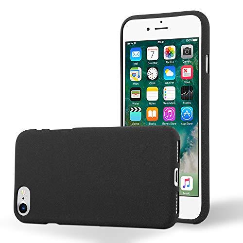Cadorabo Funda para Apple iPhone 7 / 7S / 8 / SE 2020 en Frost Negro - Cubierta Proteccíon de Silicona TPU Delgada e Flexible con Antichoque - Gel Case Cover Carcasa Ligera