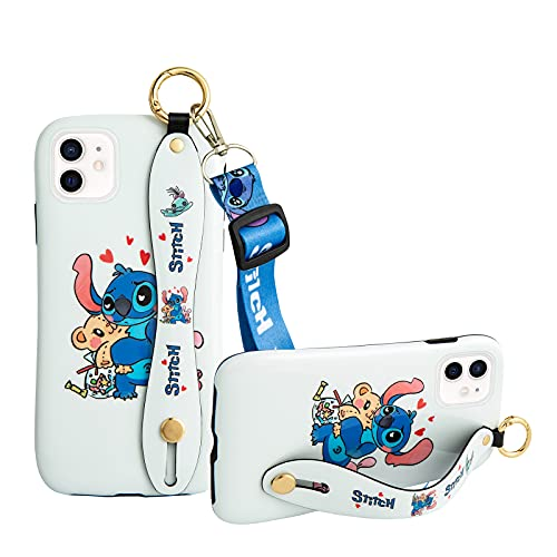 Case Compatible with iPhone 12 and iPhone 12 Pro/Fashion Wrist Strap Band Protector Phone Cover Lanyard Case 6.1 inch