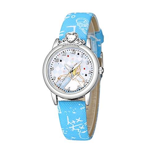 CXJC Reloj de Cuarzo Impermeable para niños y niñas de 4 a 12 años, Relojes con Estilo Elegante y de Moda para niños, Correa Impresa de PU (Color : C)